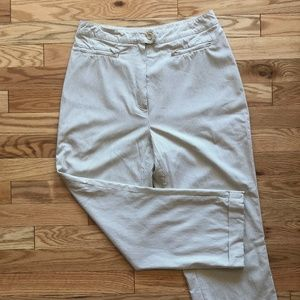 Pants - Vintage Mid-Rise Sear-Sucker Capri in Beige